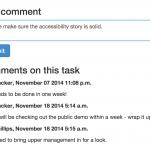 Comments on tasks
